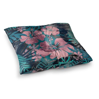 Tropical Style Illustration by Cafelab Floor Pillow Size: 26 x 26