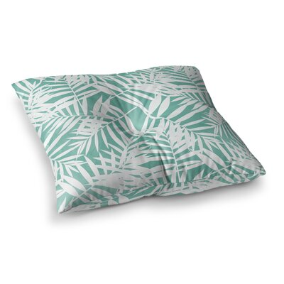 Water Tropicana Theme Illustration by Cafelab Floor Pillow Size: 26 x 26
