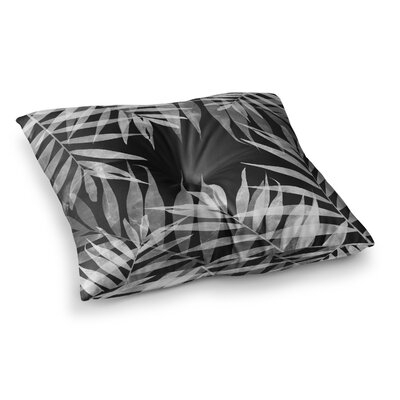 BW Tropicana Theme Illustration by Cafelab Floor Pillow Size: 23 x 23