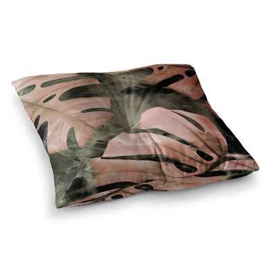 Monstera Theme by Cafelab Floor Pillow Size: 26 x 26