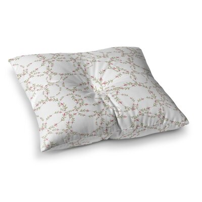 Evergreen Wreaths by Emma Frances Floor Pillow Size: 26 x 26