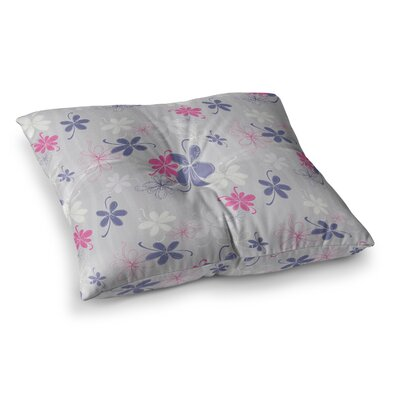 Lively Blossoms by Emma Frances Floor Pillow Size: 26 x 26