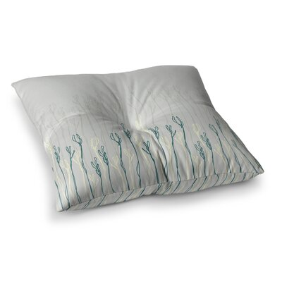 Dainty Shoots by Emma Frances Floor Pillow Size: 26 x 26
