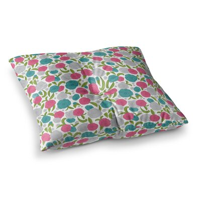 Vintage Brights by Emma Frances Floor Pillow Size: 26 x 26