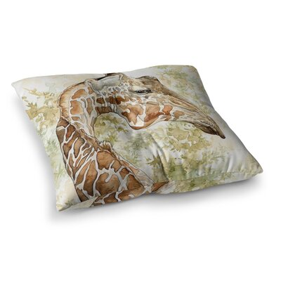 Africa 2 Animals by Wildlife Floor Pillow Size: 26 x 26