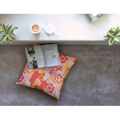 Fishes Here Fishes There by Akwaflorell Floor Pillow Size: 23 x 23