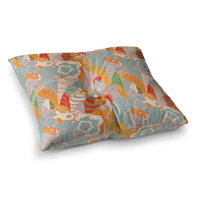 Fishes Here Fishes There II by Akwaflorell Floor Pillow Size: 26 x 26