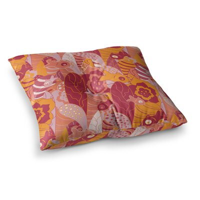 Fishes Here Fishes There III by Akwaflorell Floor Pillow Size: 26 x 26