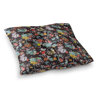 At Home by Akwaflorell Floor Pillow Size: 26 x 26