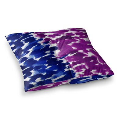 Fleeting by Emine Ortega Floor Pillow Size: 26 x 26, Color: Blue