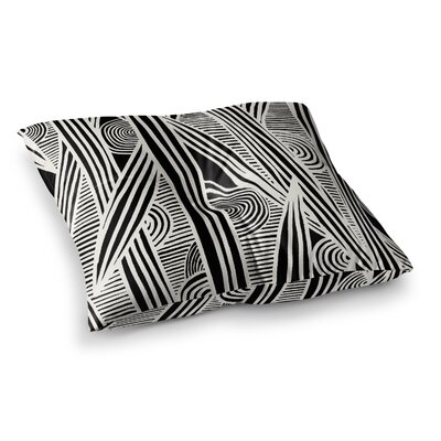 Graphique by Emine Ortega Floor Pillow Size: 23 x 23, Color: Black