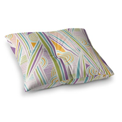 Graphique by Emine Ortega Floor Pillow Size: 26 x 26, Color: White