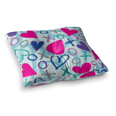 Hearts a Flutter by Emine Ortega Floor Pillow Size: 23 x 23