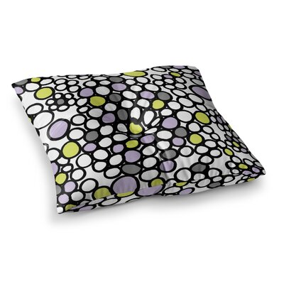 Pebbles by Emine Ortega Floor Pillow Size: 26 x 26, Color: Lilac