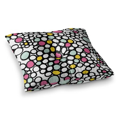 Pebbles by Emine Ortega Floor Pillow Size: 23 x 23, Color: Pink