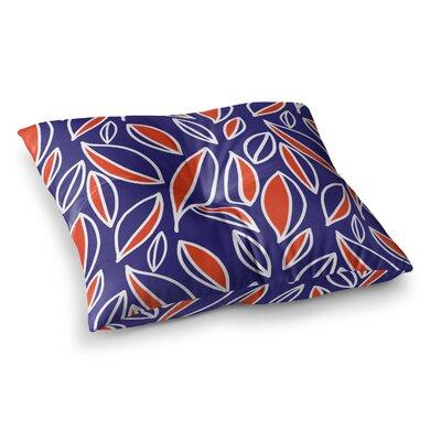 Leaving by Emine Ortega Floor Pillow Size: 26 x 26, Color: Orange