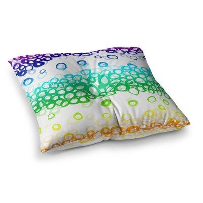 Pebble Row by Emine Ortega Floor Pillow Size: 23 x 23