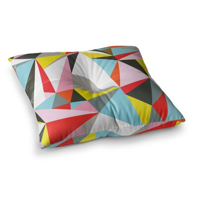 Mosaik Geometric by Fimbis Floor Pillow Size: 23 x 23