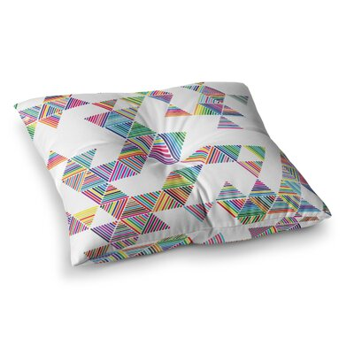 Rainbow Rain by Fimbis Floor Pillow Size: 23 x 23