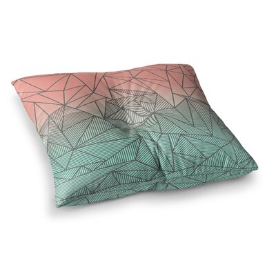 Bodhi Rays Geometric Illustration by Fimbis Floor Pillow Size: 23 x 23