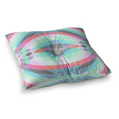 Jazar Abstract Geometric by Fimbis Floor Pillow Size: 26 x 26