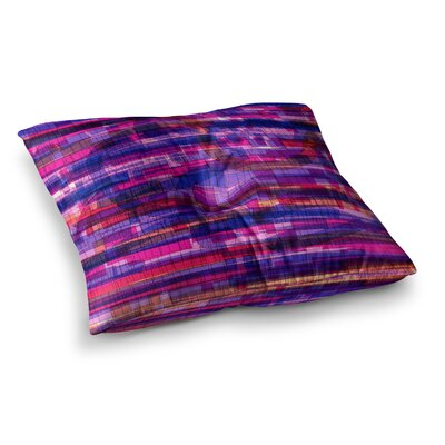 Squares Traffic by Frederic Levy-Hadida Floor Pillow Size: 26 x 26, Color: Pink