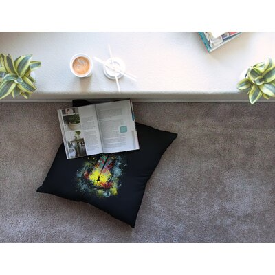 Midnight Syphony by Frederic Levy-Hadida Floor Pillow Size: 23 x 23