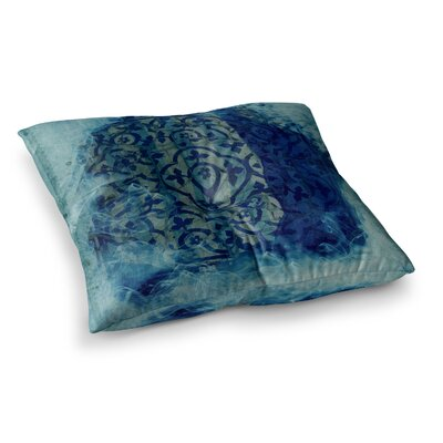 Mosaic in Cyan by Frederic Levy-Hadida Floor Pillow Size: 26 x 26