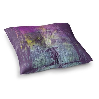 Rain by Frederic Levy-Hadida Floor Pillow Size: 23 x 23