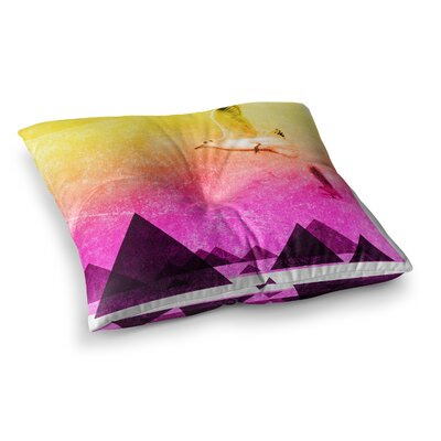 Seagulls in Shiny Sky by Frederic Levy-Hadida Floor Pillow Size: 26 x 26