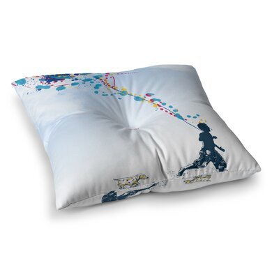 Child Creation Chronicle by Frederic Levy-Hadida Floor Pillow Size: 26 x 26