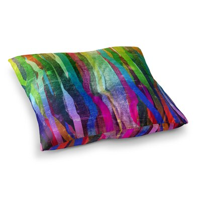 Jungle Stripes by Frederic Levy-Hadida Floor Pillow Size: 23 x 23, Color: Multi