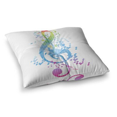 Rainbow Key Music by Frederic Levy-Hadida Floor Pillow Size: 26 x 26