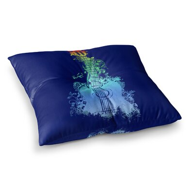 Nature Tune by Frederic Levy-Hadida Floor Pillow Size: 26 x 26, Color: Blue
