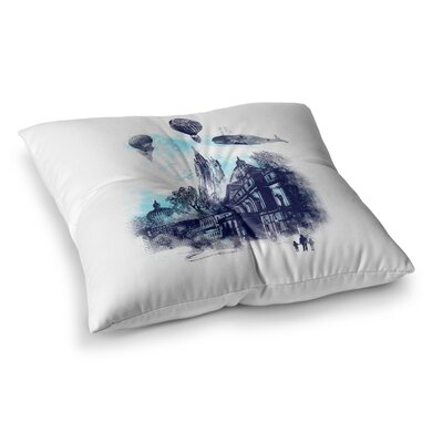 Strange Town City by Frederic Levy-Hadida Floor Pillow Size: 26 x 26