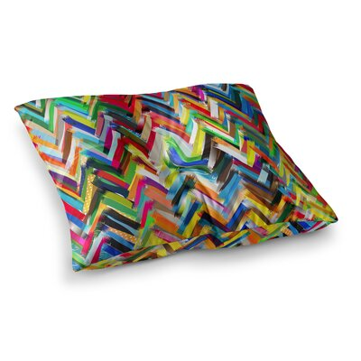 Chevrons by Frederic Levy-Hadida Floor Pillow Size: 26 x 26