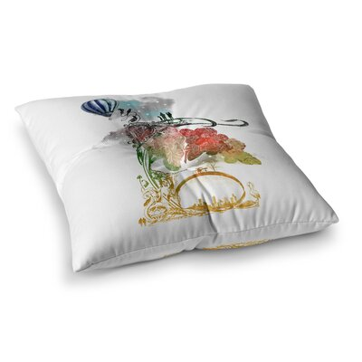 A Little Paradise by Frederic Levy-Hadida Floor Pillow Size: 23 x 23