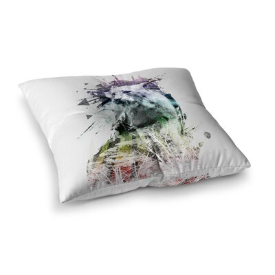Art Name Cat by Frederic Levy-Hadida Floor Pillow Size: 26 x 26
