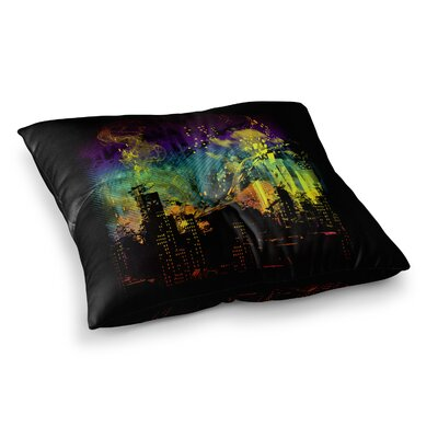 City Grid Rainbow by Federic Levy-Hadida Floor Pillow Size: 23 x 23