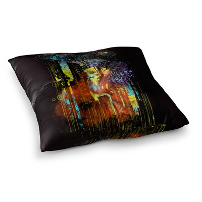 Starry City Lights by Federic Levy-Hadida Floor Pillow Size: 26 x 26