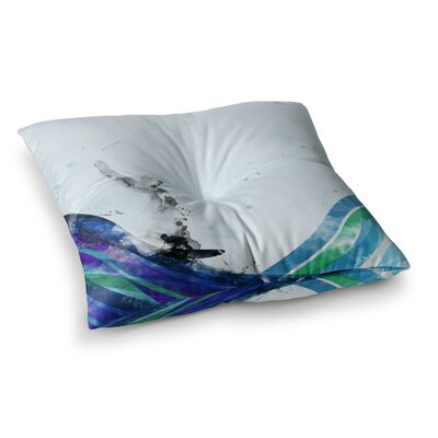 The Wave by Federic Levy-Hadida Floor Pillow Size: 23 x 23