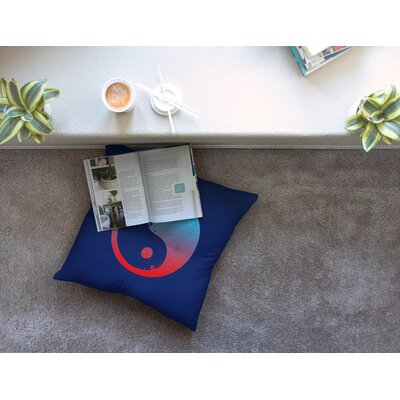 Ying Yang Surfers by Federic Levy-Hadida Floor Pillow Size: 26 x 26