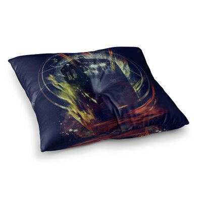 Its Lightfull Inside Digital Fantasy by Frederic Levy-Hadida Floor Pillow Size: 26 x 26