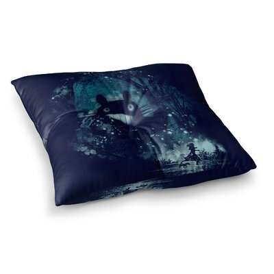 The Big Friend Fantasy by Frederic Levy-Hadida Floor Pillow Size: 23 x 23