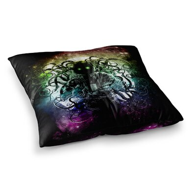 Terror From Deep Space by Frederic Levy-Hadida Floor Pillow Size: 26 x 26