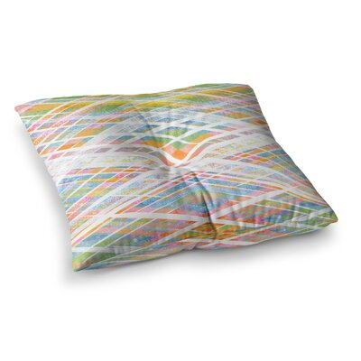 Losanges 2 Digital by Frederic Levy-Hadida Floor Pillow Size: 23 x 23