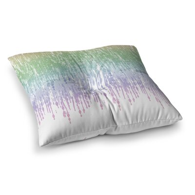 Rainbow Drops Digital by Frederic Levy-Hadida Floor Pillow Size: 26 x 26