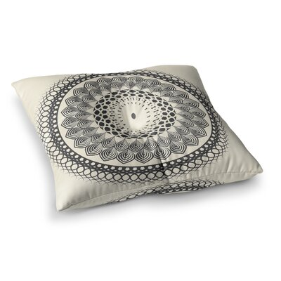 Boho Mandala Geometric by Famenxt Floor Pillow Size: 23 x 23