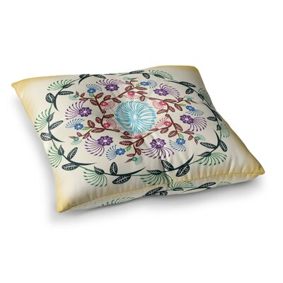 Nature Mandala by Famenxt Floor Pillow Size: 26 x 26