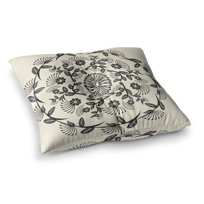 Decorative Mandala Geometric by Famenxt Floor Pillow Size: 26 x 26